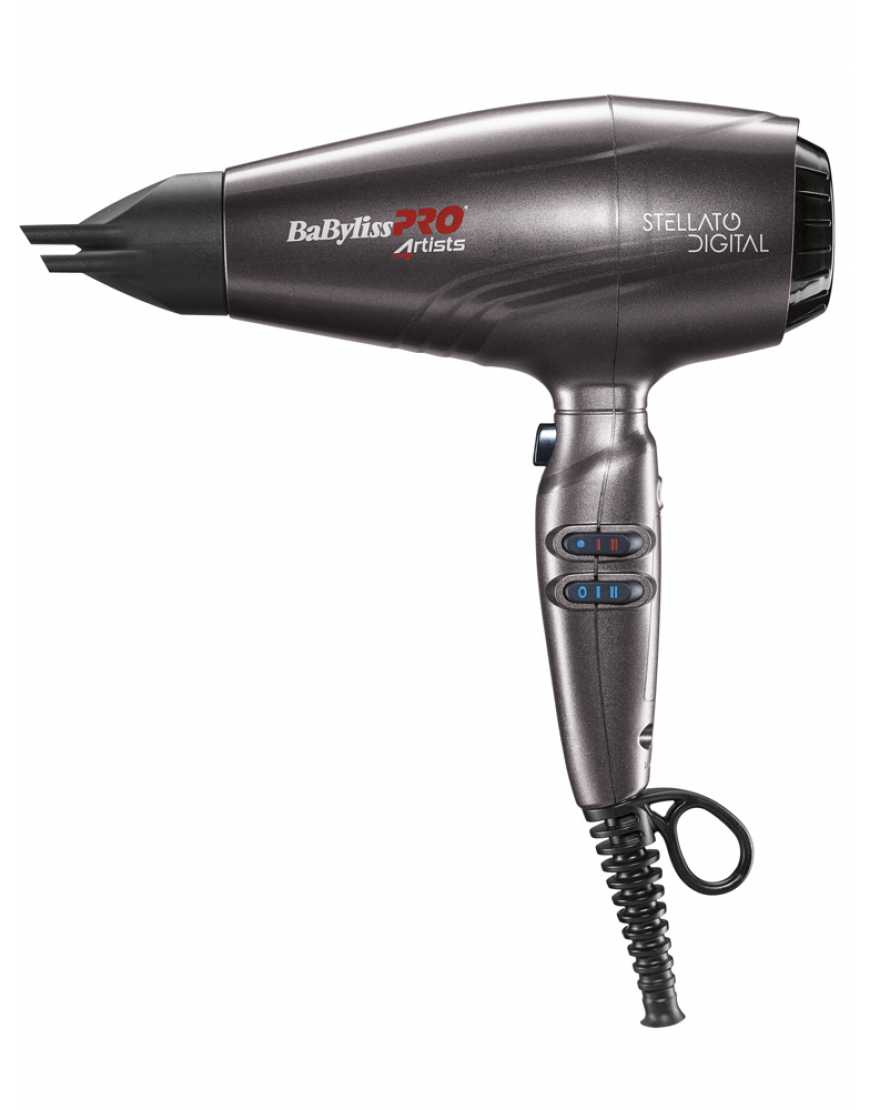 Фен Babyliss Pro BAB7500IE Stelatto Digital, 2400Вт