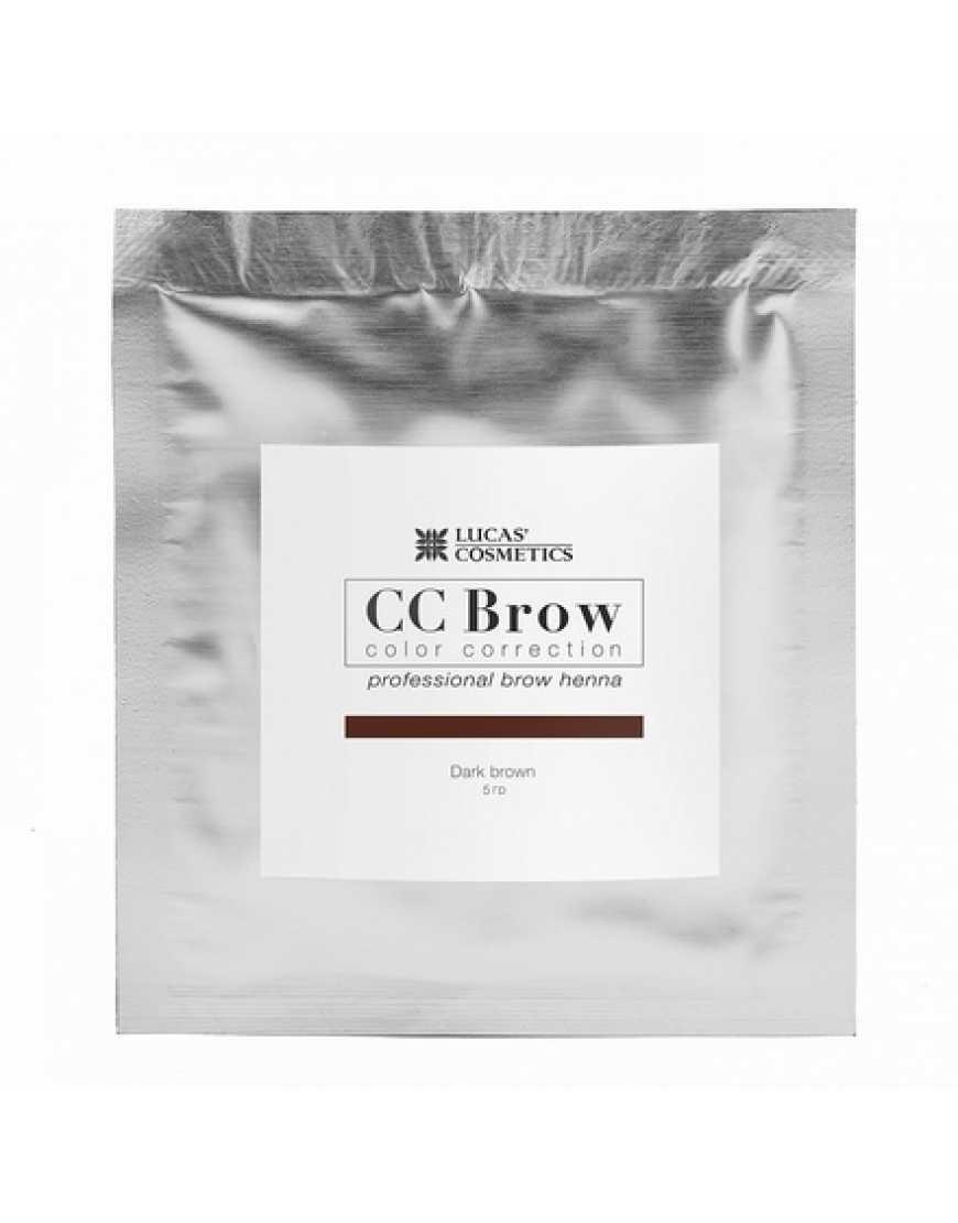 Хна СС Brow (dark brown) для биотатуажа бровей (темно-коричневый) 5 гр.