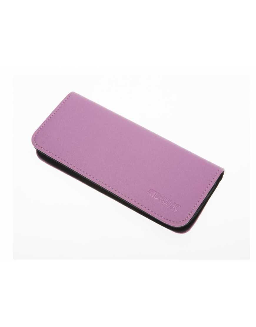 Чехол для 2-х ножниц DEWAL, полимерный материал, ML11сиреневый с черным, 22*10*10*3 см
