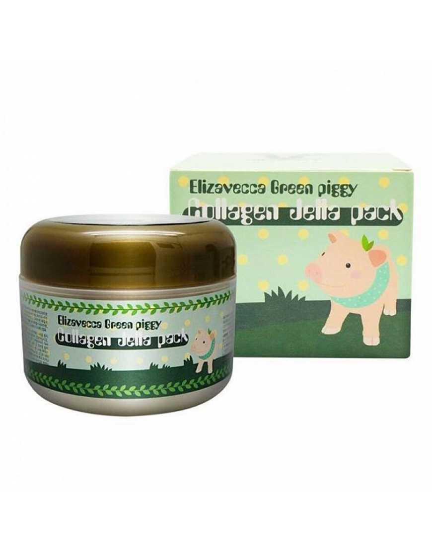 Elizavecca Маска для лица желейная с коллагеном Лифтинг Green Piggy Collagen Jella Pack, 100 мл
