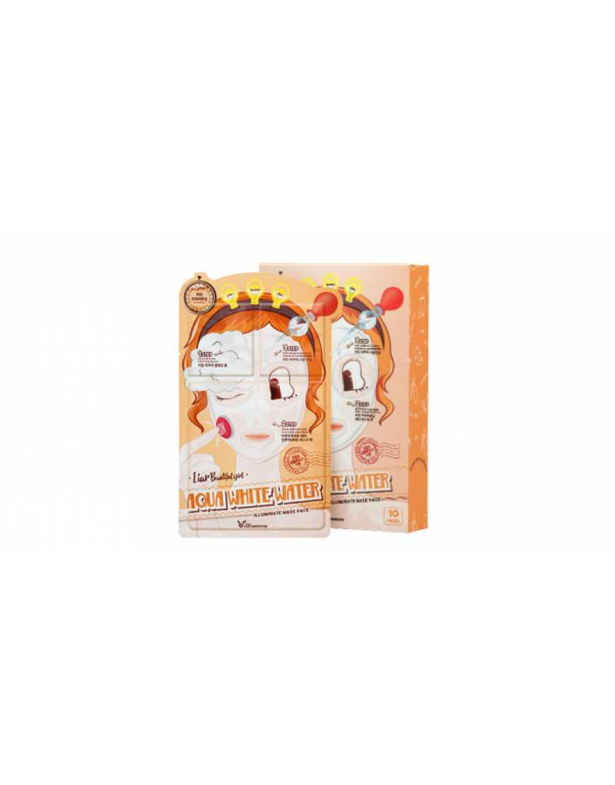 Elizavecca Маска трехэтапная Увлажняющая 3-step Aqua White Water Illuminate Mask Sheet