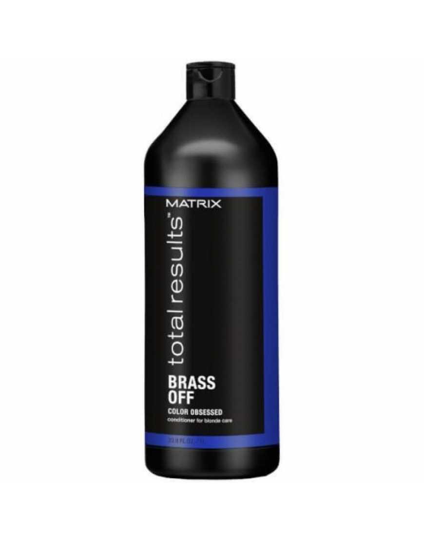 Кондиционер MATRIX Total Results Color Obsessed Brass Off для глубокого питания волос оттенка Холодный блонд, 1000 мл