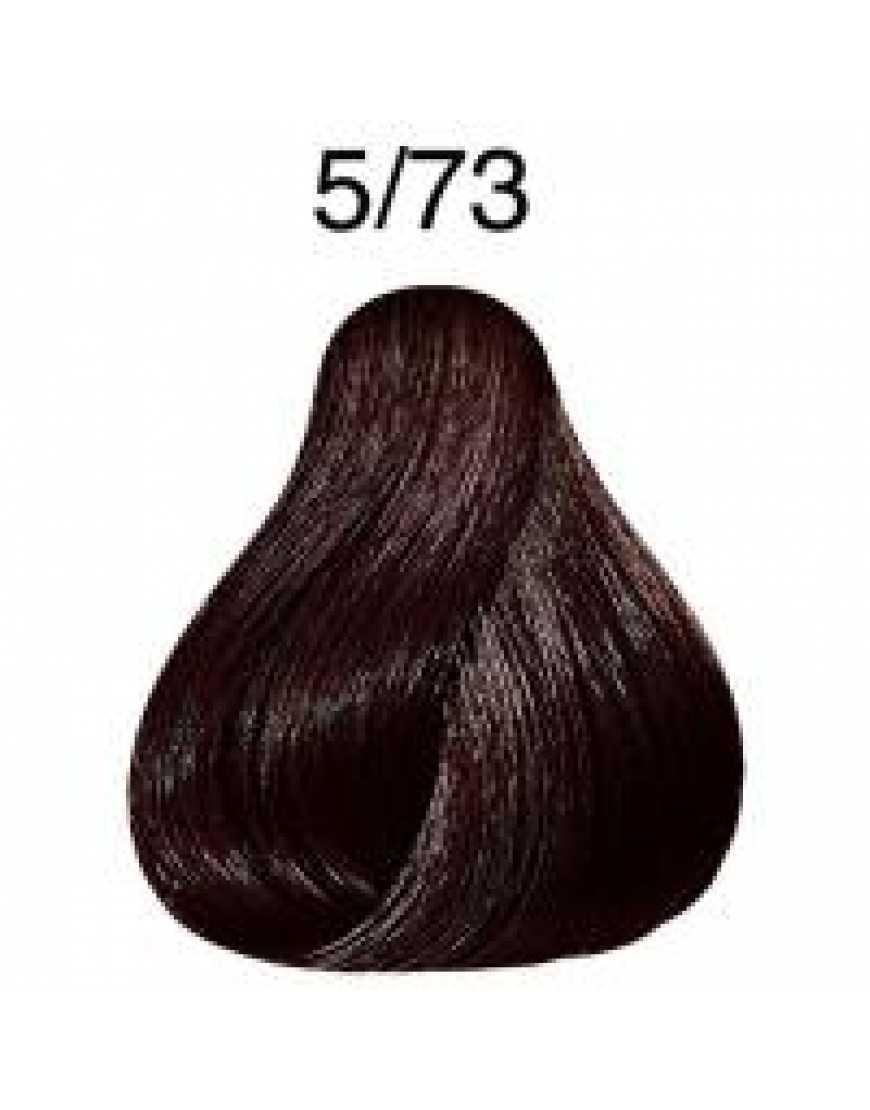 Стойкая крем-краска  Londa Color 5/73  светлый шатен коричнево-золотистый 60 мл
