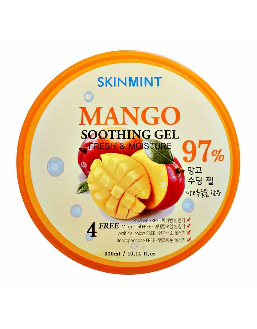 Skinmint Гель увлажняющий для лица и тела с экстрактом манго 97%, 300 мл