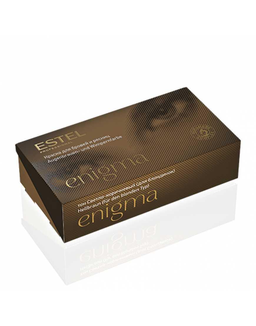 ESTEL Enigma Краска для бровей и ресниц светло- коричневая (набор)