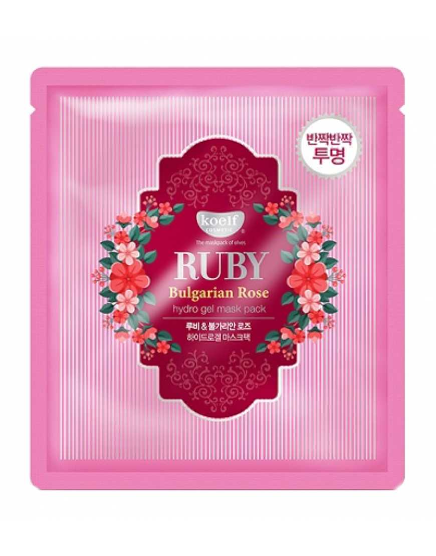 Koelf Гидрогелевая маска для лица с экстрактом болгарской розы Ruby & bulgarian rose