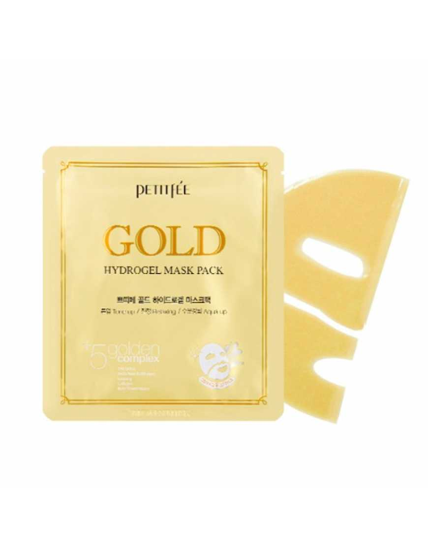 Petitfee Гидрогелевая маска для лица c Золотом Gold Hydrogel Mask Pack