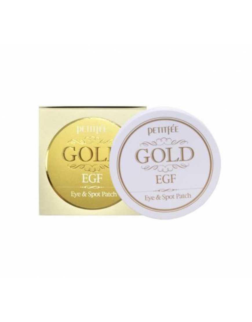 PETITFEE EGF Gold & EGF Eye&Spot Patch Гидрогелевые патчи для глаз ЗОЛОТО, 90 шт
