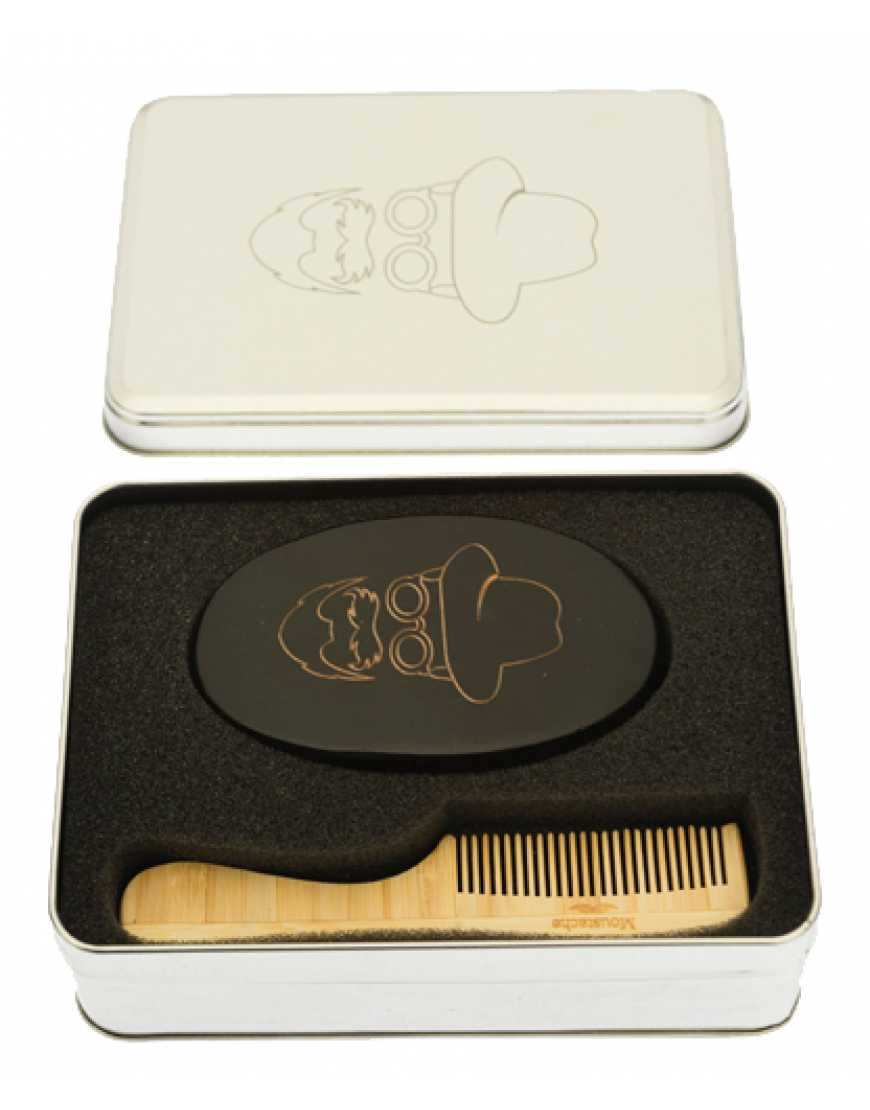 Набор расчесок CO-007/1 DEWAL для бороды и усов в алюминиевом кейсе