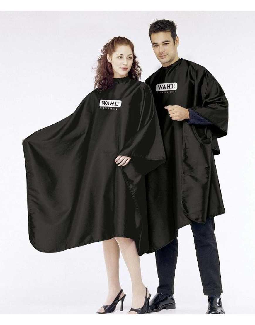 4505-7001 Wahl Hair dressing cape with logo/пеньюар для парикмахеров, черный