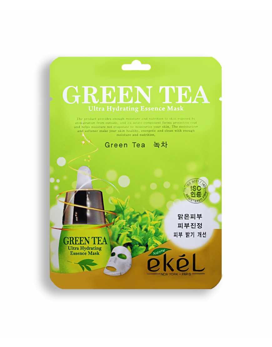EKEL Маска тканевая с экстрактом зеленого чая, 25 мл
