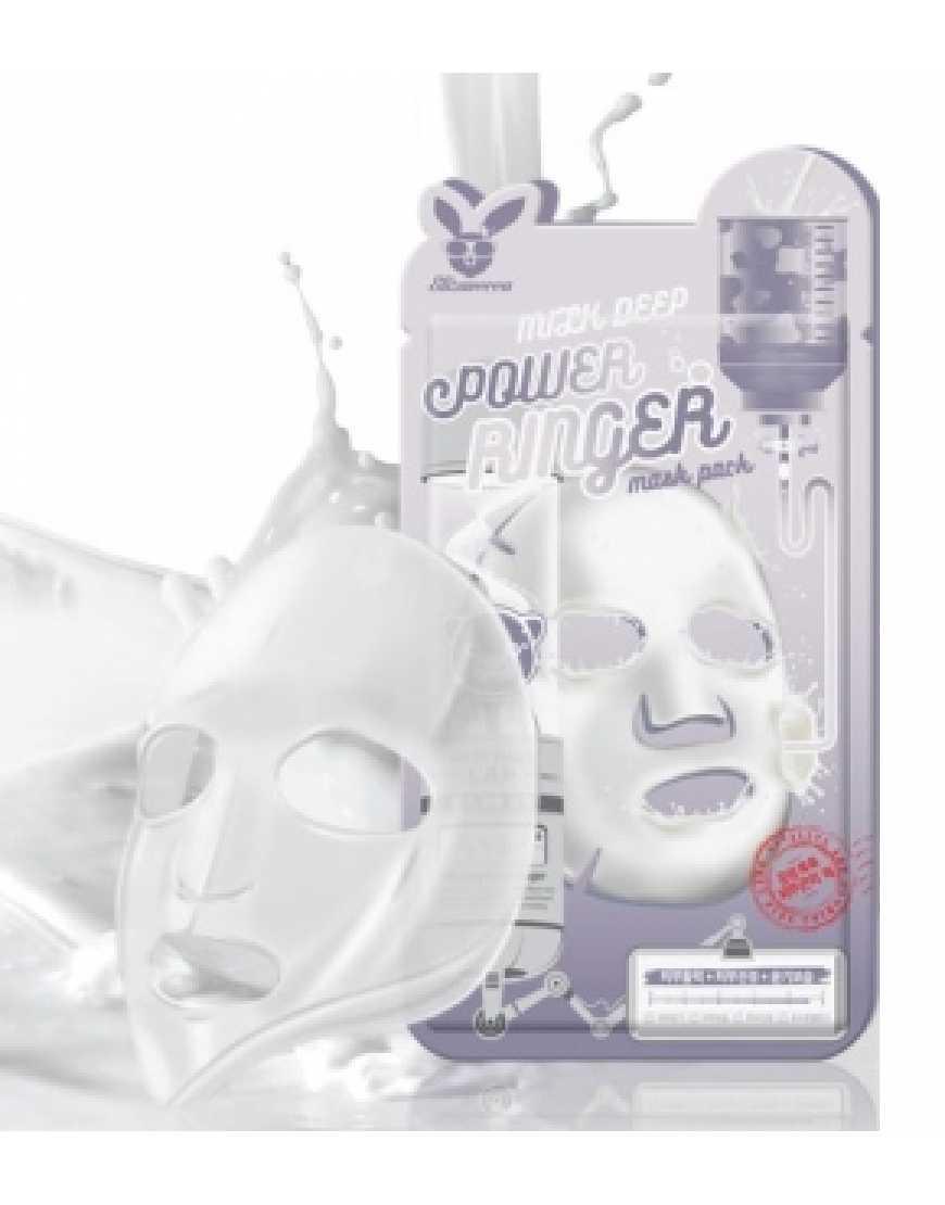 Elizavecca Тканевая маска д/лица с Молоком MILK DEEP POWER Ringer mask Pack