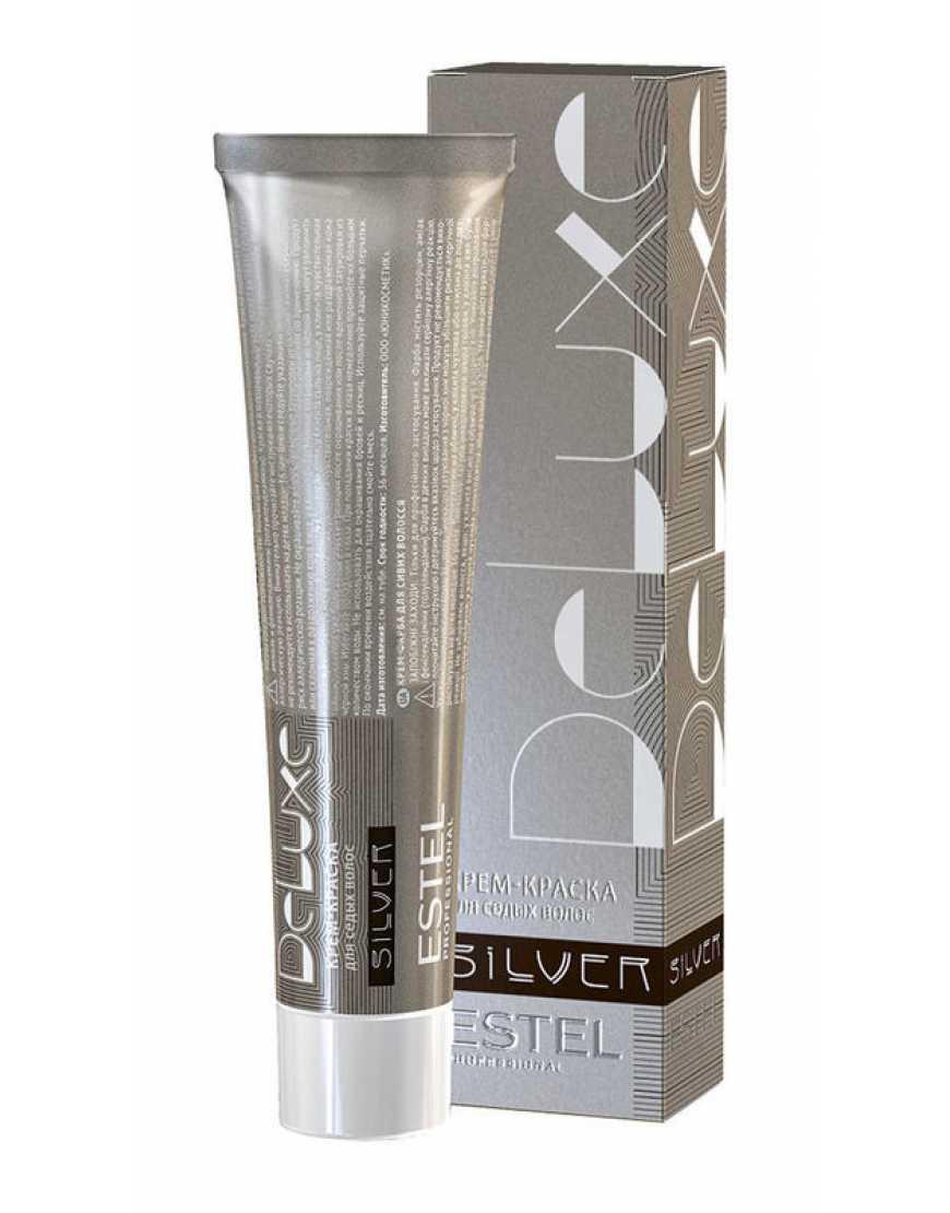Estel Крем-краска для волос 6/71 DeLux Silver, темно-русый коричневый 60 мл