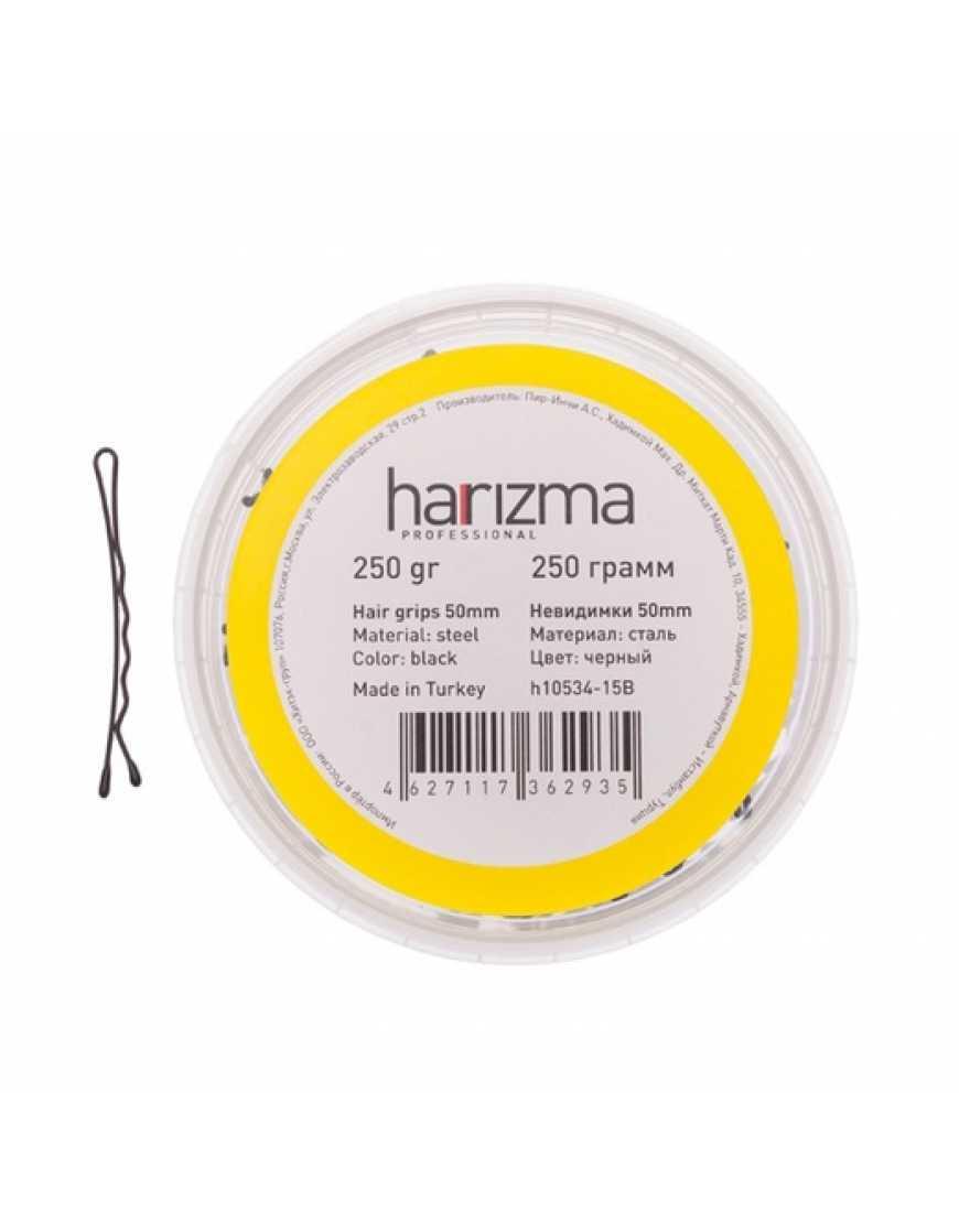 Harizma Невидимки 50 мм волна черные 250 гр h10534-15B
