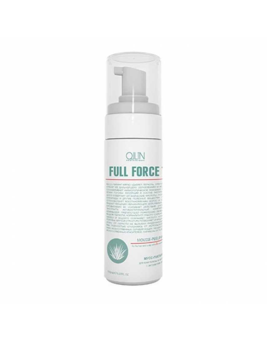 OLLIN Professional FULL FORCE Мусс-пилинг для волос и кожи головы с экстрактом алоэ, 150 мл