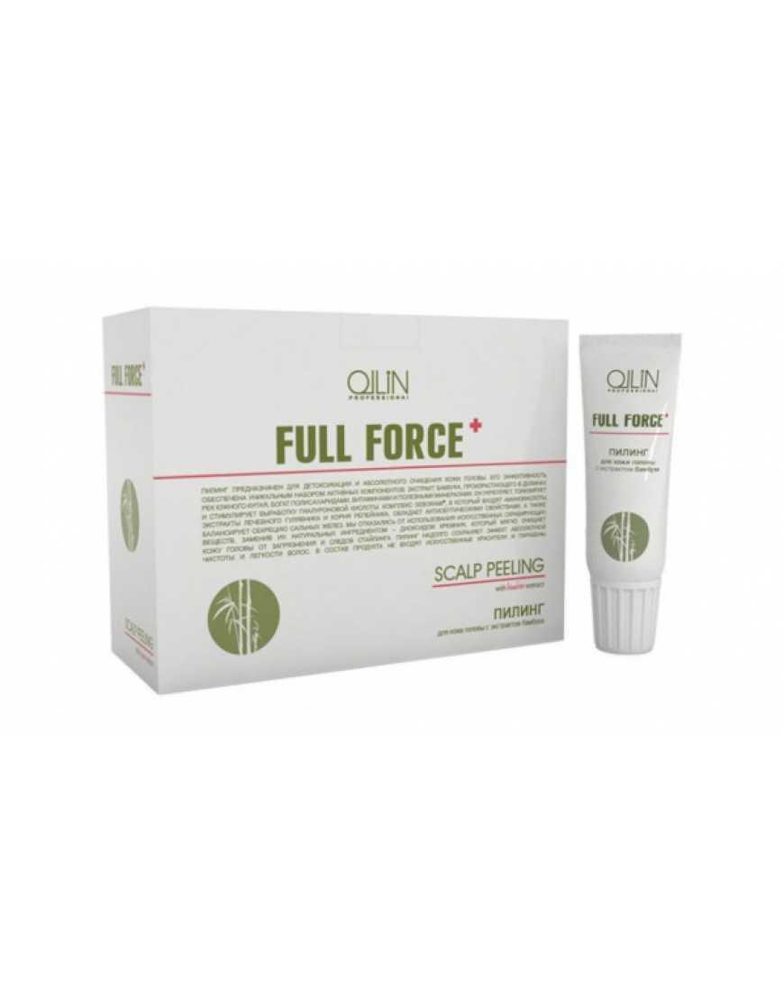 OLLIN Professional FULL FORCE Пилинг для кожи головы с экстрактом бамбука, 15 мл