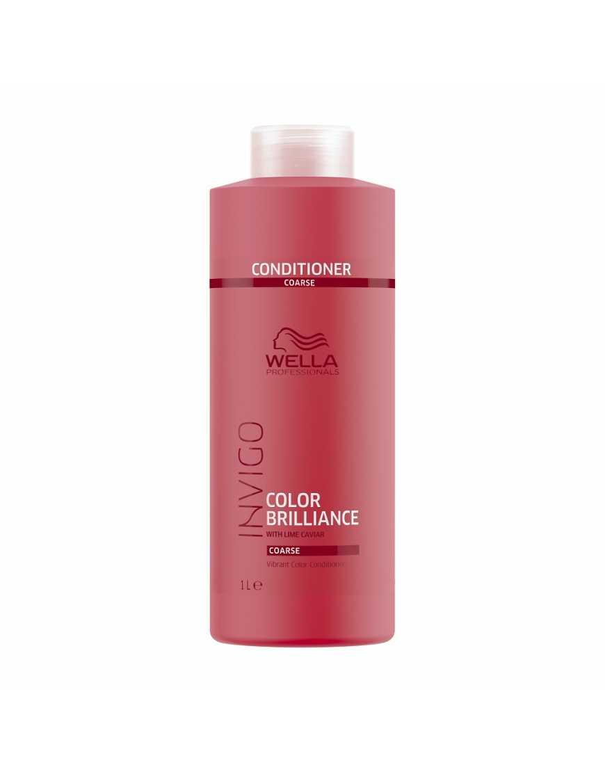 Бальзам-уход Wella Professionals Invigo Color Brilliance для защиты цвета окрашенных жестких волос, 1000 мл