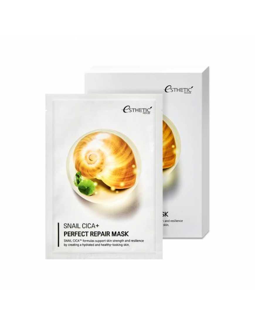 Esthetic House Тканевая маска для лица МУЦИН УЛИТКИ Snail Cica  Perfect Repair Mask, 25 мл
