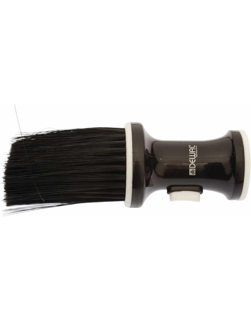 Кисть-сметка  DEWAL NB002Black, настольная, ручка-пластик, с ёмкостью для талька, искусственная щетина