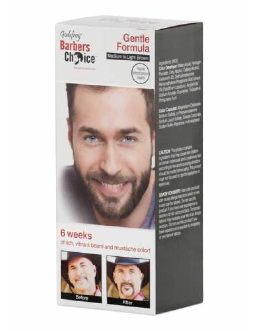 Камуфляж бороды Godefroy Barbers Choice, средне-светло коричневый, 3 капсулы