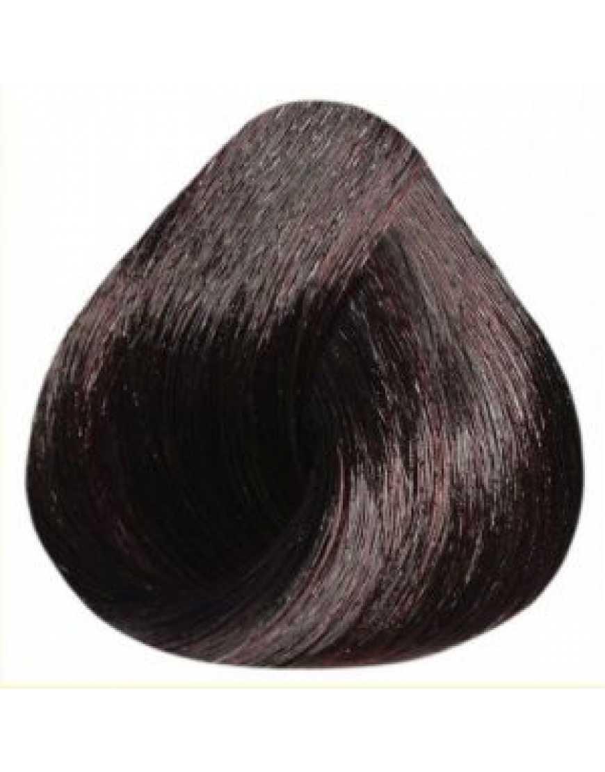 Estel Краска-уход De Lux 4/75 шатен коричнево-красный 60 мл