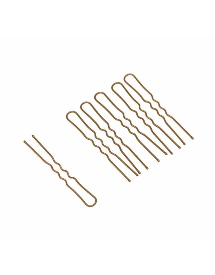 Шпильки Dewal 45мм волна, коричневые (200шт.) Dewal SLT45V-3/200