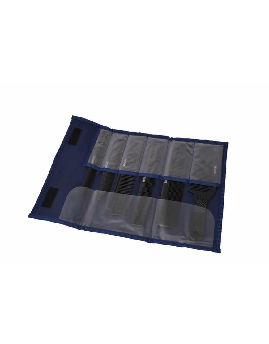 Набор расчесок CO-6000K12J DEWAL в джинсовом чехле, 6шт.