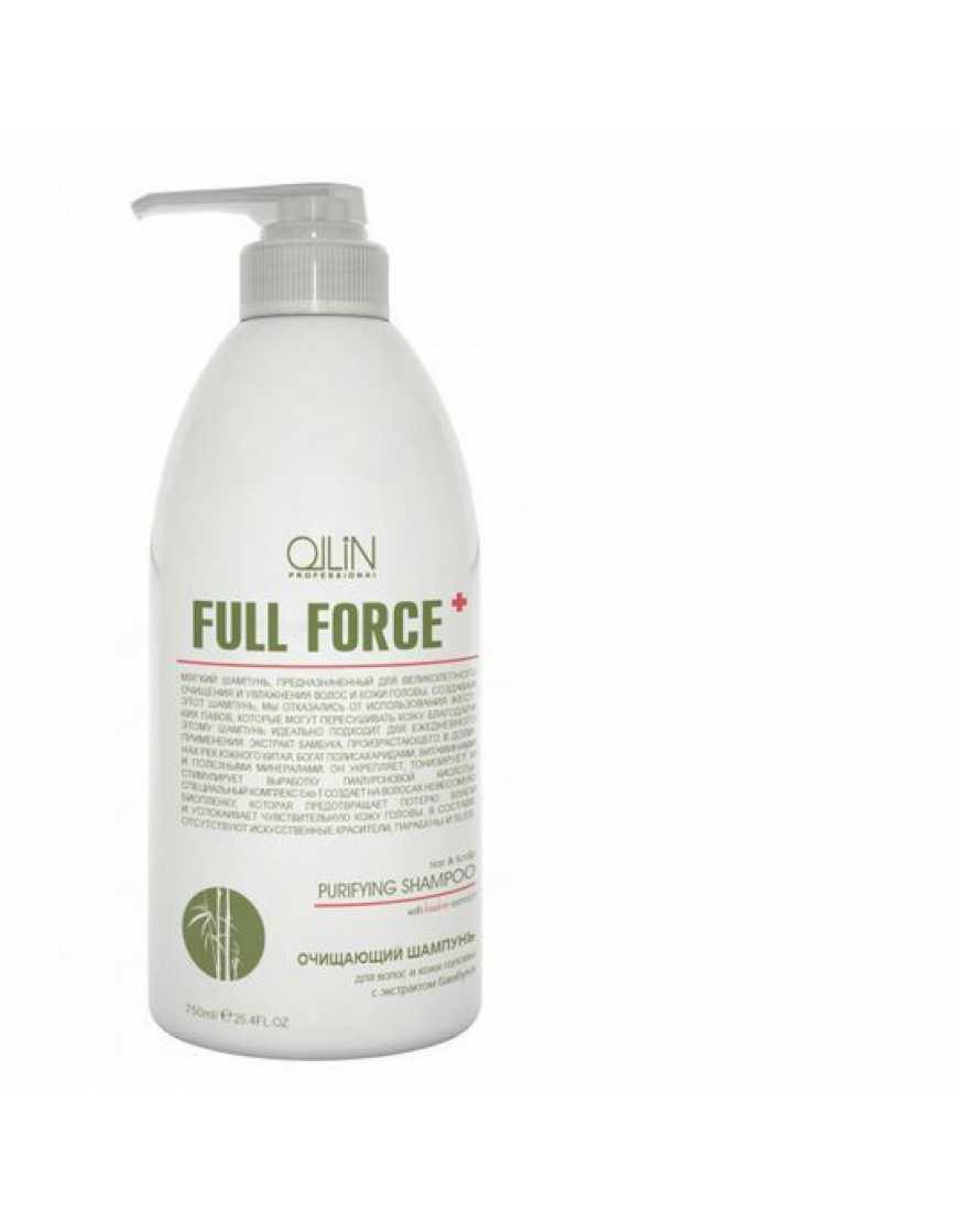 OLLIN Professional Full Force Шампунь очищающий для волос и кожи головы с экстрактом бамбука, 750 мл