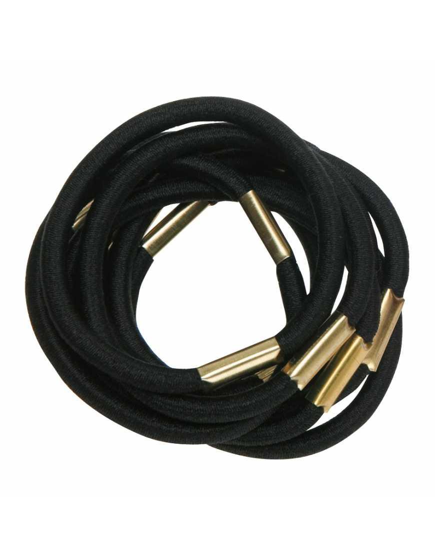 Резинки для волос DEWAL RE021 черные, maxi (10 шт)