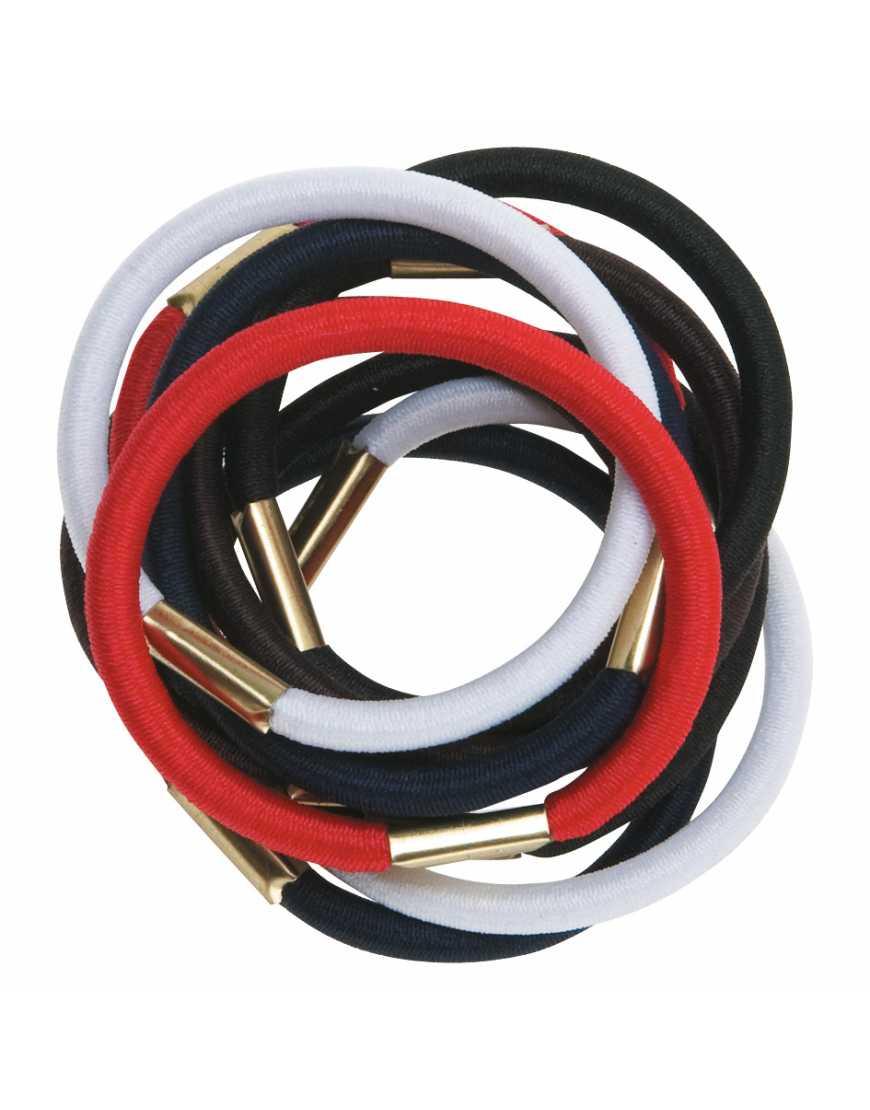 Резинки для волос DEWAL RE020 цветные, maxi (10 шт)