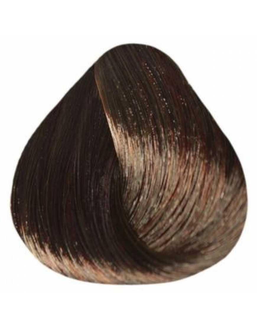 Estel Крем-краска для волос 5/75 DeLux Silver, светлый шатен коричнево-красный 60 мл