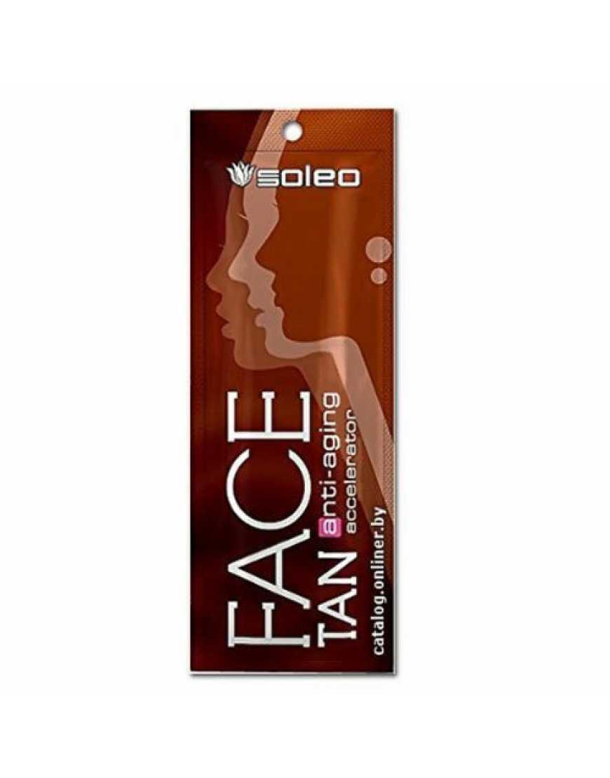 Крем ускоритель Soleo для загара Face Anti-Aging, 5ml