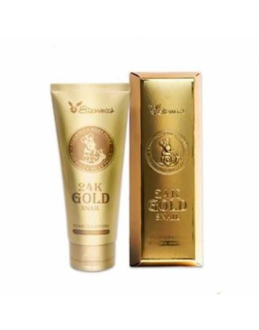 Elizavecca 24K Gold Snail Cleansing Foam Пенка для умывания Муцин улитки и золото, 180 мл